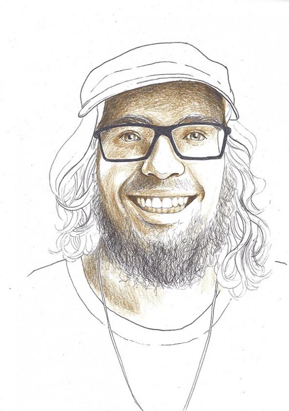 Mauricio Gamper, porträtiert von Linda Steiner.