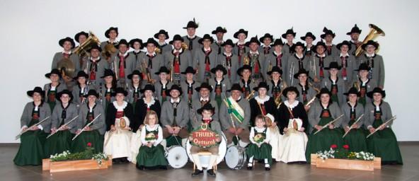 Gruppenfoto der Musikkapelle Thurn. Foto: Raimund Mußhauser
