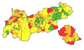 """Zehn Osttiroler Gemeinden in der """"roten Zone"""""""