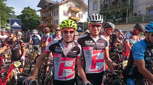 Vor dem Start: Hannes Wilhelmer und Thomas Aichner.