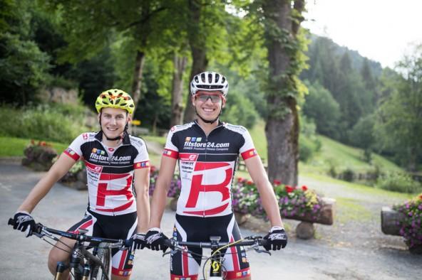 Hannes Wilhelmer und Thomas Aichner, Team Fitstore 24 powered bei IDM.