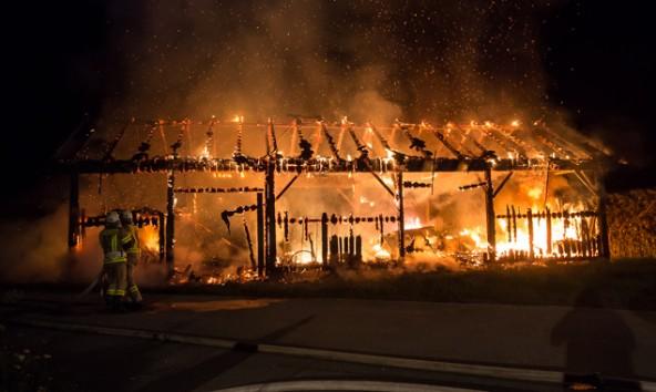 Am 5. August brannte ein Heuschuppen in Nikolsdorf komplett nieder. Foto: Brunner Images