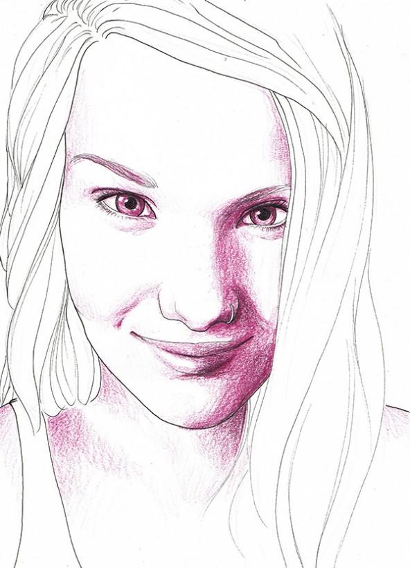 Carmen Reider, porträtiert von Linda Steiner.