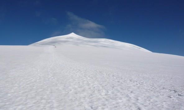 Gipfelgrat des Großvenediger mit dem Großglockner im Hintergrund. Foto: NPHT/Jurgeit