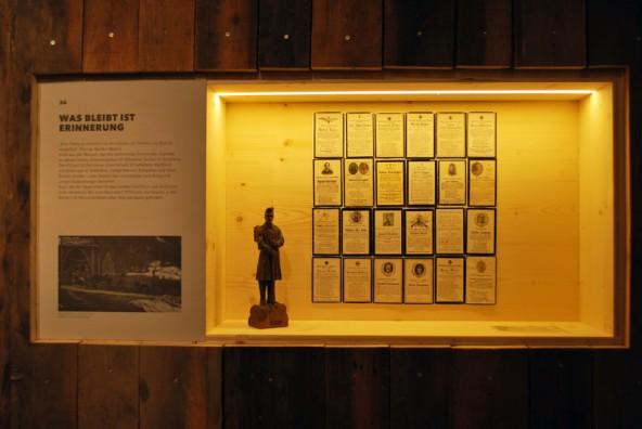 """Teil der Ausstellung """"Pro Patria?!"""". Foto: Gemeinde Kartitsch"""