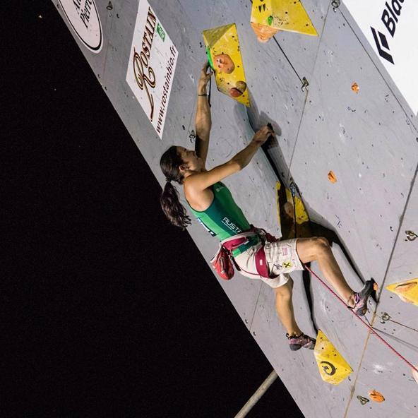 """Katharina Posch sagt, dass die Kletterwand in Lienz """"für mich schon eine Überwindung sein wird""""."""