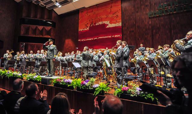 Die Militärmusik Tirol bei einem ihrer Konzerte. Fotos: Militärmusik Tirol