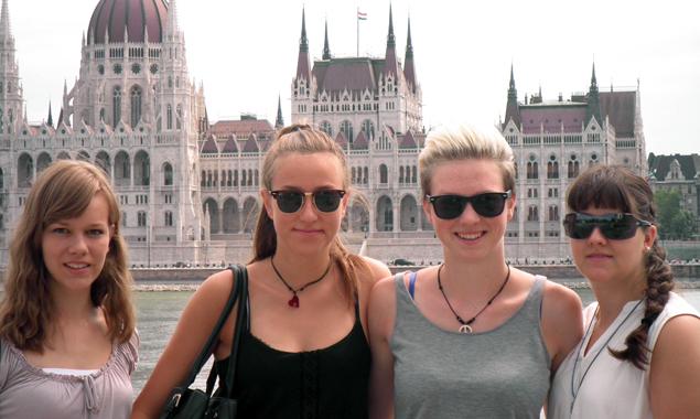 Die Teilnehmerinnen aus Osttirol, v.l.: Sandra Wurzer, Caroline Mair, Bianca Huber und Nadine Ortner. Foto: Edith Koller