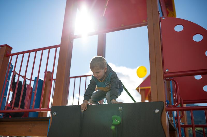 Soviel ist fix: Verkleinert wird der Kinderspielplatz neben der HTL nicht. Foto: Marco Leiter
