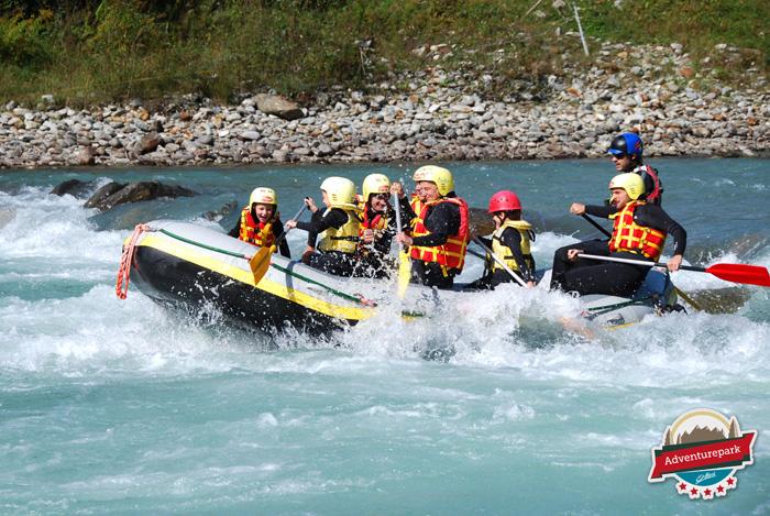 Große Raftingabenteuer für Kinder und ihre Väter bot MENergie am 19. September.