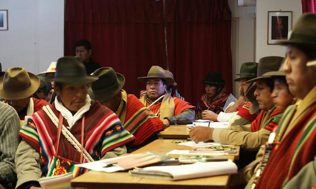 Die bolivianischen Urvölker kannten keine Schrift, sie wurde ihnen von den Kolonisatoren aufgedrängt.