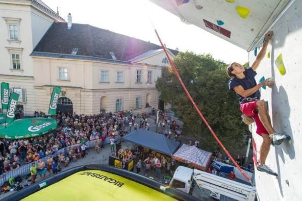 Rustam Gelmanov gilt als einer der Topfavoriten für den Kletterwettbewerb in Lienz. Foto: EXPA/Gruber