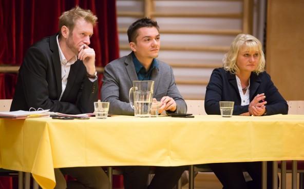 Die Vertreter des TSD (v.l. Georg Mackner, Florian Stolz und Beatrix Lackner) wollten vor allem auch die verängstigten Stimmen zu Wort kommen lassen.