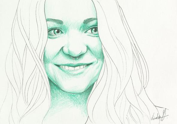 Johanna Oblasser, porträtiert von Linda Steiner.