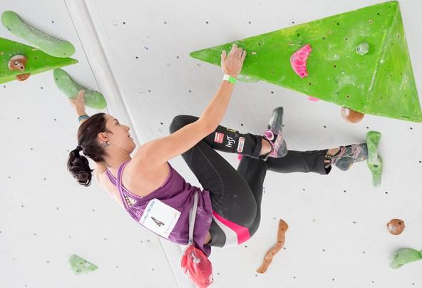 Katharina Posch kletterte mit einer Glanzleistung zum Sieg.