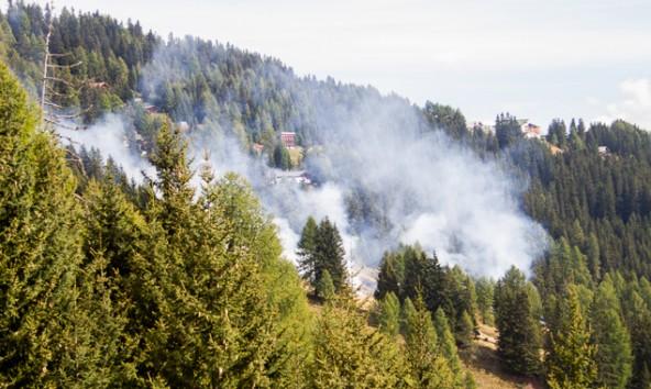 Der kontrollierte Brand schien durch die Rauchentwicklung größer als er tatsächlich war. Foto: Brunner Images