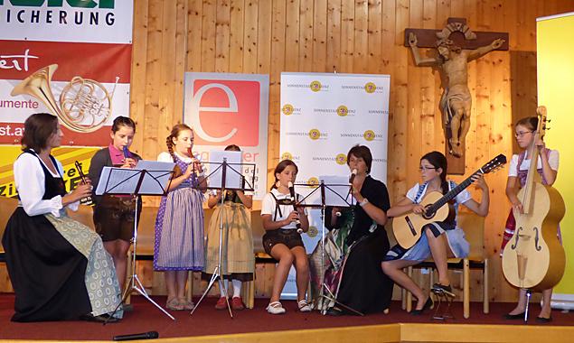 Das Musizierwochenende versammelte 110 Musikanten aus ganz Tirol und Oberkärnten. Fotos: Michael Warscher/Tiroler Volksmusikverein