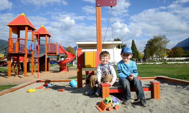 Demnächst können die Kinder den neuen Spielplatz in Eichholz einweihen. Stadt Lienz/Bernd Lenzer