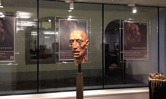 """Die Ausstellung """"Skulpturen"""" zeigt Werke von Georg Leitner in der Volksbank Galerie. Fotos: Dolomitenstadt"""