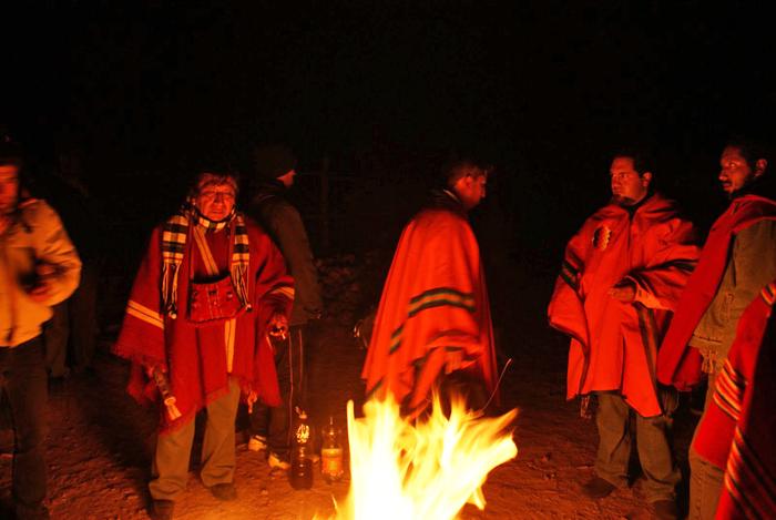 Sonnwendfeier in Bolivien.