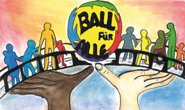 Die Schülerinnen der Neuen Mittelschule Sillian gestalteten mit ihrer Lehrerin Maria Bucher das Ballplakat.