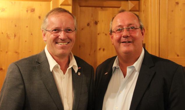 ÖGB-Regionalvorsitzender Willi Lackner, Regionalgeschäftsführer der Gewerkschaft GPA-djp Tirol Harald Schweighofer. Foto: ÖGB Tirol/Sachers