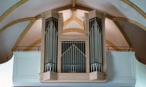 Die Linder Orgel wird beim Konzert im Mittelpunkt stehen und von Trompeten begleitet werden. Foto: Georg Webhofer