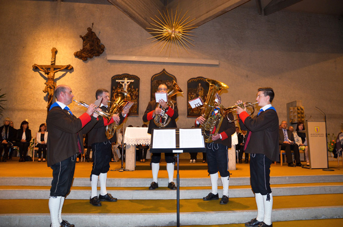 Natürlich war auch die Marktmusikkapelle vertreten.