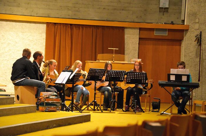 Die Musikgruppe der Neuen Mittelschulde Nussdorf-Debant war eine der Gruppen, die sich am Benefizkonzert beteiligte.