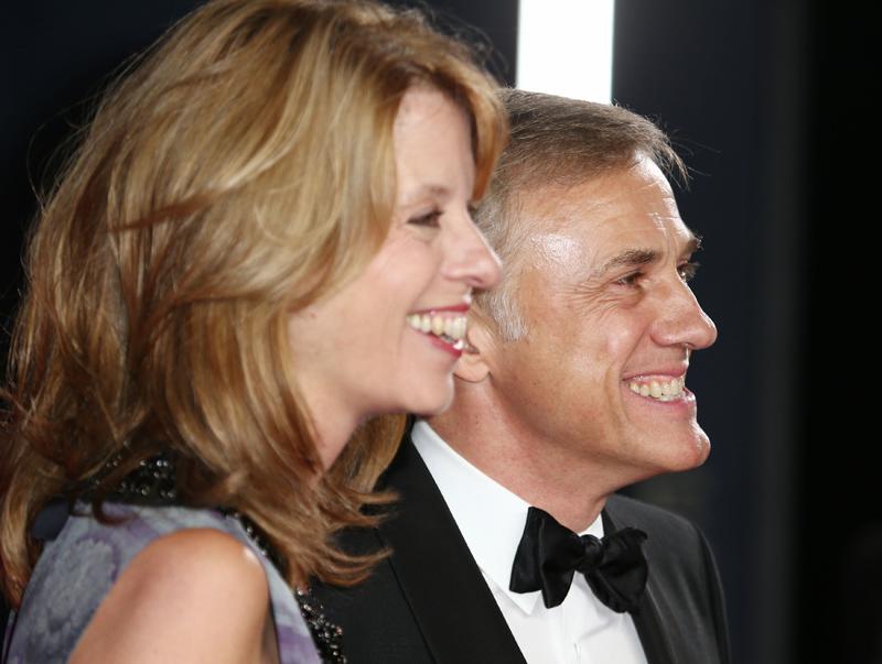 Christoph Waltz, der Bösewicht im neuen James Bond, mit seiner Frau Judith Holste. Fotos: EXPA/ PHT/ James Shaw