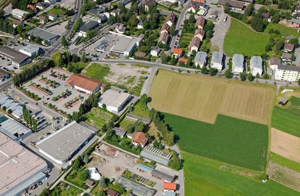 Der Bauplatz im Luftbild von Wolfgang C. Retter.