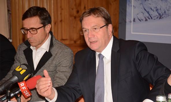 Ihre Gesamtbilanz für den Sommer zogen Tirols oberste Touristiker mit Josef Margreiter (links) und LH Günther Platter in Sölden.