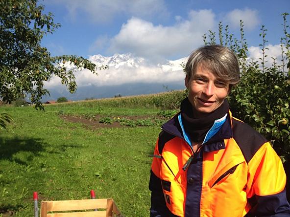 Bio-Erwerbsbäuerin Regula Imhof will nicht mehr als Aufsichtsrätin die Verantwortung für das Agieren der Tiwag übernehmen. Foto: Regula Imhof