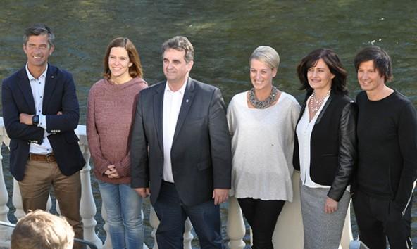 Meinhard Pargger (3.v.l.) präsentierte sein Kernteam für die Lienzer Gemeinderatswahlen. Fotos: Dolomitenstadt/Pirkner