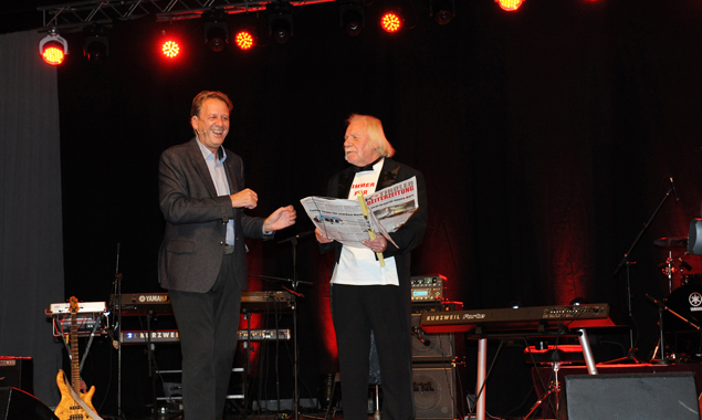 AK Präsident Erwin Zangerl mit Moderaltor Viktor Haid. Fotos: AK Tirol
