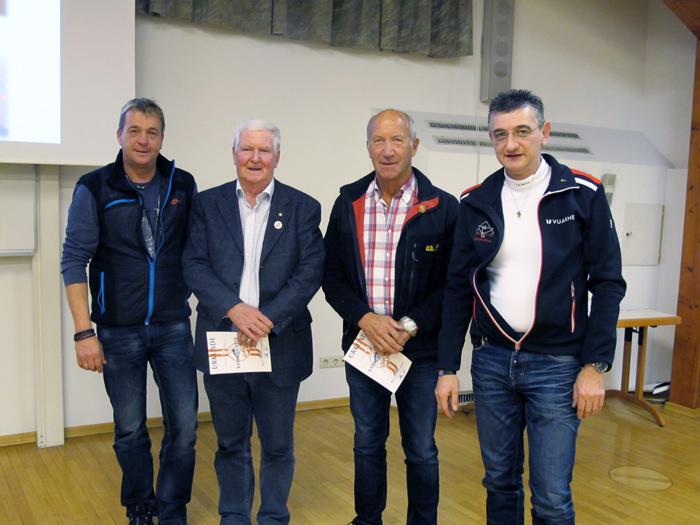 Landeskampfrichter Peter Zenz Peter, Siegmund Alberer, Manfred Leitner und Herbert Obererlacher