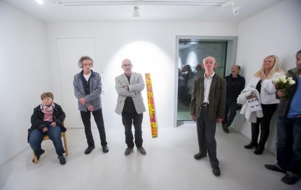 Die tägliche Arbeit miteinander und nebeneinander als Inspirationsquelle, v.l.: Maria Patterer, Karl Pfurtscheller, Rudi Ingruber und Christian Wurnitsch.
