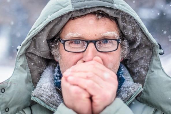 Dem Schöpfer des Kunstwerkes, Georg Planer, war trotz Kälte sicher warm ums Herz.