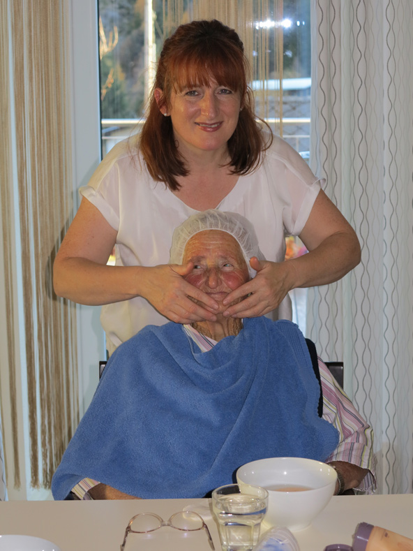 Nicht nur die Seniorinnen, auch Katharina Nothdurfter-Bürgler genoss den Nachmittag.