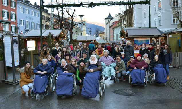 Einige der Seniore/innen besuchten den Adventmarkt zum ersten Mal.