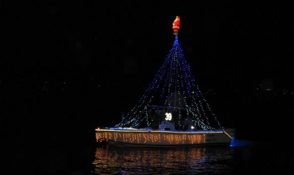 DIe beliebte Christmas Boat Parade.