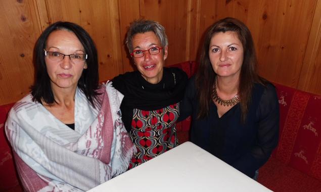 Das Betriebsratsteam des Gesundheits- und Sozialsprengels, v.l.: Beate Pichlkostner, Vorsitzende Anke Maria Korb und Eva Maria Leb. Foto: ÖGB Lienz/Harald Kuenz