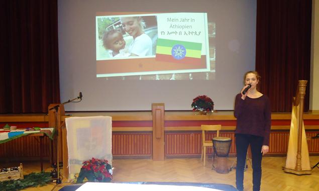Petra Plattner aus Schlaiten regte den Begegnungsabend an und erzählte von ihren Erfahrungen in Äthiopien.