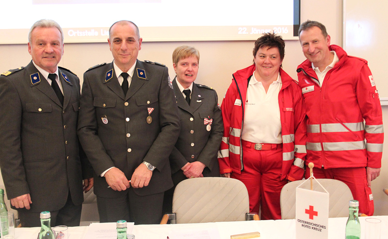 Egon Kleinlercher, Manfred Buchacher, Maria König, Gabriele Riepler und Christian Oberlojer