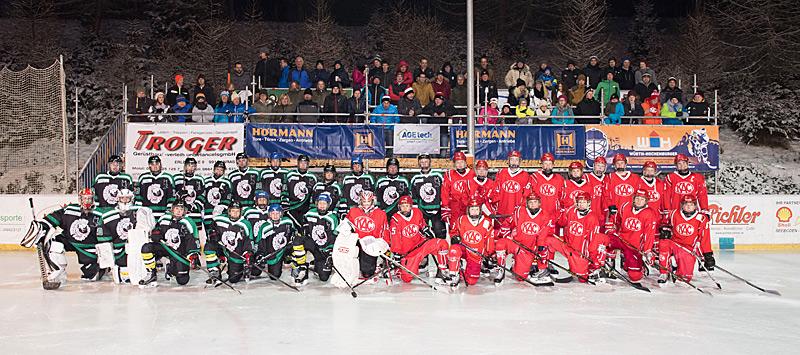 Die jungen Teams des KAC und der Icebears Toblach matchten sich in Sillian. Fotos: Schett