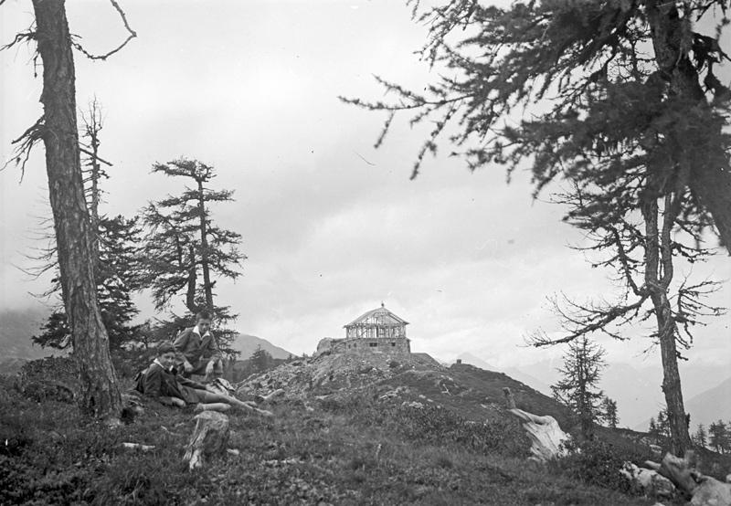 Die neue Hochsteinhütte in Bau, 1931 (Fotograf: Erich Kneußl; Sammlung Kneußl – TAP)