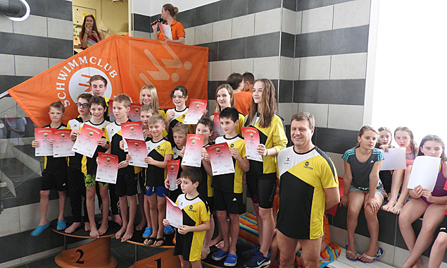Die Schwimmunion Osttirol holte sich zahlreiche Medaillen und Platz zwei in der Mannschaftswertung. Foto: Schwimmunion Osttirol