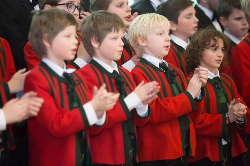 Nach dem Pressegespräch sangen beim Neujahrsempfang einmal mehr die Wiltener Sängerknaben.