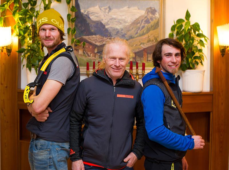 Die Legende und zwei, die es noch werden wollen. Von links: Vorname Wurzer, felix Kammerlander und Vittorio Messini. Fotos: Expa/Gruber