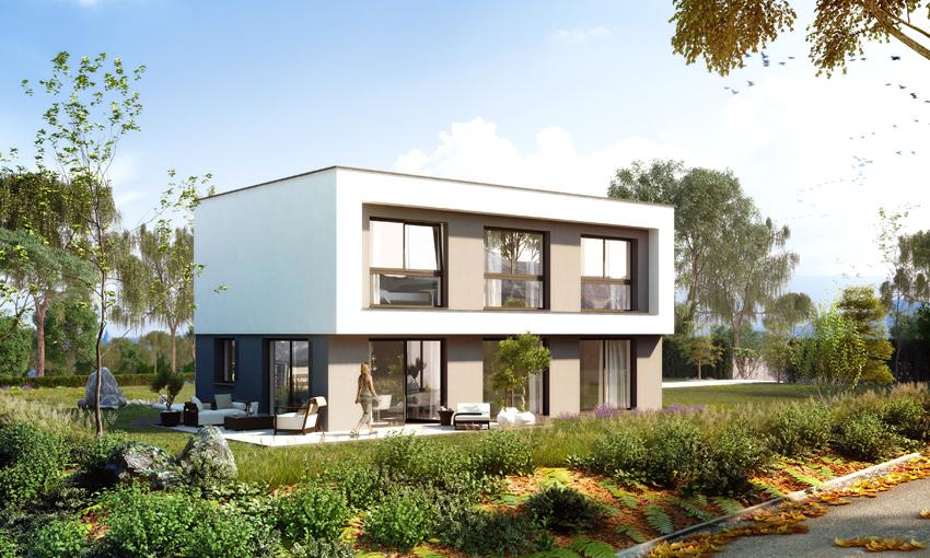 """""""Baumeisterhaus 2020"""" (Visualisierung: Wirtschaftskammer Tirol, Landesinnung Bau)"""